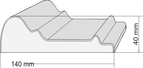 schemat listwy styropianowej
